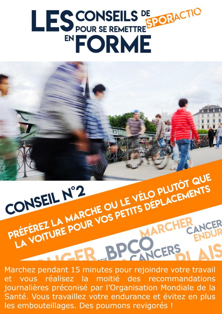 Les conseils de Sporactio N°2 – Préférez la marche ou le vélo